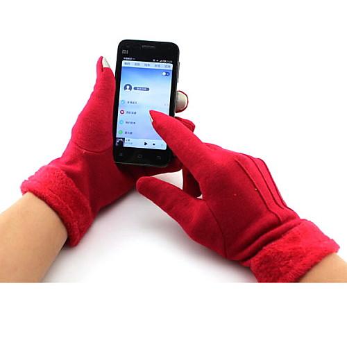 Перчатки Спортивные перчатки Жен. Перчатки для велосипедистов Осень / Зима ВелоперчаткиСохраняет тепло / Дышащий / Ветронепроницаемый / <br>