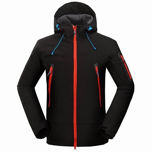 Муж. Куртка для туризма и прогулок Водонепроницаемость Сохраняет тепло С защитой от ветра Ультрафиолетовая устойчивость Защита от