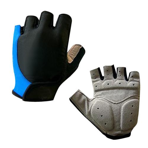 Спортивные перчатки Перчатки для велосипедистов Дышащий Пригодно для носки Износостойкий Без пальцев Силикон Синтетическая кожа Лайкра Велосипедный спорт / Велоспорт Муж. Жен, Желтый