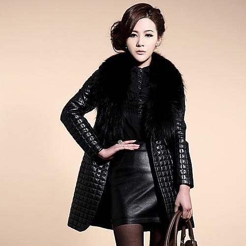 Женское, элегантное пальто, с воротником из искусственного меха от Lightinthebox.com INT
