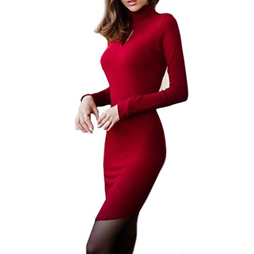 Женское, стильное платье с длинным рукавом