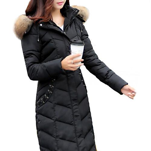 Женский На каждый день / Большие размеры Парка Женский Пальто , Длинный рукав , Пух от Lightinthebox.com INT