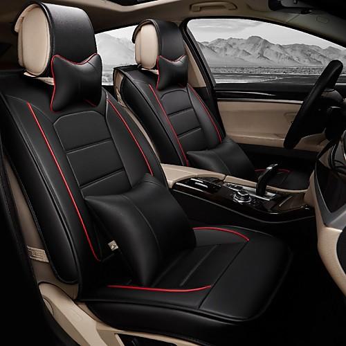 Чехлы на автокресла Чехлы для сидений Кожа PU Назначение Acura Saturn Honda Renault Saab Ford Citroen Mitsubishi Chrysler Land Rover, Оранжевый