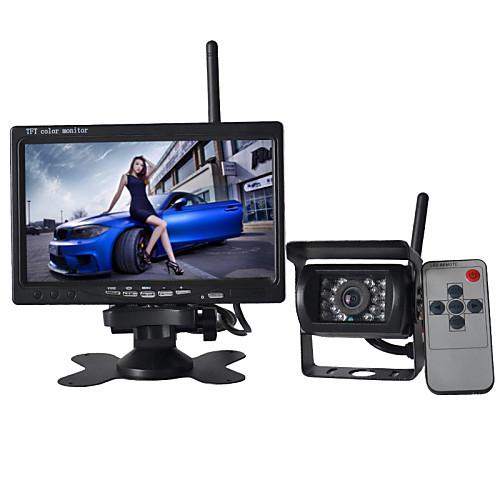 Беспроводной 7-дюймовый монитор 170 ° HD Автомобильная камера заднего вида  высокой четкости широкоугольная Водонепроницаемая камера CMD