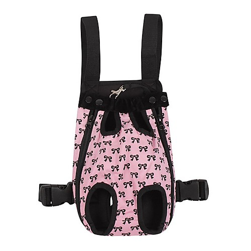 Кошка Собака Переезд и перевозные рюкзаки передняя Рюкзак Животные Покрывала Компактность Бант Розовый Для домашних животных
