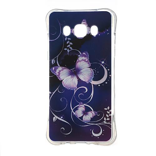 Кейс для Назначение SSamsung Galaxy Кейс для Samsung Galaxy Защита от удара / С узором Кейс на заднюю панель Бабочка ТПУ для J5 (2016)