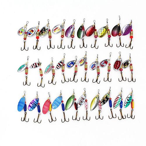 Набор из 30 металлических блесн с крючками, по 3-5 гр., разные цвета от Lightinthebox.com INT