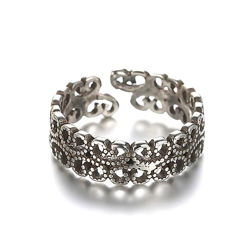 Кольцо Регулируемое кольцо кольцо для большого пальца Серебряный Стерлинговое серебро Серебристый Дамы Необычные Уникальный дизайн Повседневные Косплэй костюмы Бижутерия дешево фото