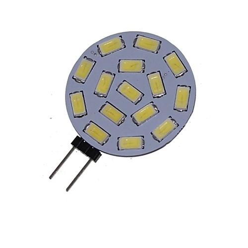 1.5 W 3000-3500/6000-6500 lm G4 Точечное LED освещение MR11 15 Светодиодные бусины SMD 5730 Декоративная Тёплый белый Холодный белый 12 V 24 V / 1 шт. / RoHs, Теплый белый