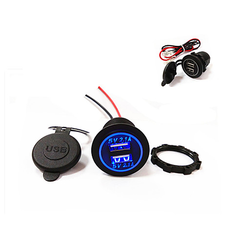 lossmann новый! двойной USB автомобильное зарядное устройство 5v 4.2a новый дизайн! водонепроницаемый! от Lightinthebox.com INT