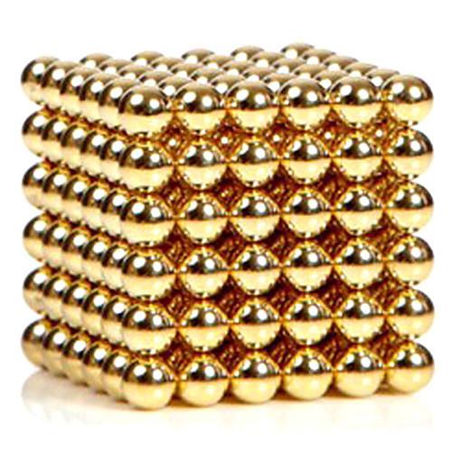 216pcs 3mm золотые и серебряные diy магнитные шарики шар шарики волшебный магнит головоломка блок исполнительной власти 2 цвета