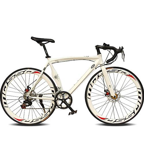 Дорожные велосипеды Велоспорт 14 Скорость 26 дюймы/700CC 50мм Мужской Женский Унисекс Взрослый SHIMANO TX30 Двойной дисковый тормоз
