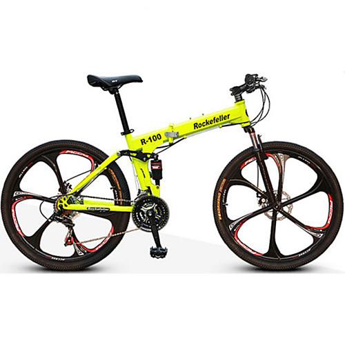 Горный велосипед / Складные велосипеды Велоспорт 21 Скорость 26 дюймы / 700CC Двойной дисковый тормоз Передняя вилка с амортизацией Задняя подвеска Обычные Алюминиевый сплав / Сталь / Да / #, Желтый