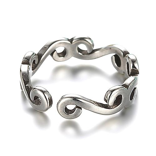 Жен. Кольцо манжета кольцо обернуть кольцо Серебряный Стерлинговое серебро Серебристый Дамы Необычные Уникальный дизайн Свадьба Повседневные Бижутерия фото