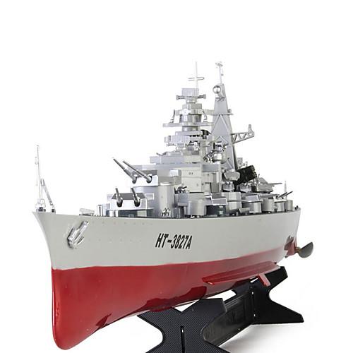 Лодка на радиоуправлении HT 3827A Военные корабли Пульт дистанционного управления 2 каналы 20 КМ / Ч Готов к полету Большой размер от Lightinthebox.com INT
