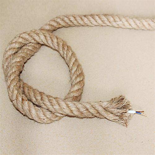 (10m / lot) 2  0.75 антикварная двойная плетеная веревка конопли электрическая проволока старинный подвесной свет шнур трикотажные фары аксессуары