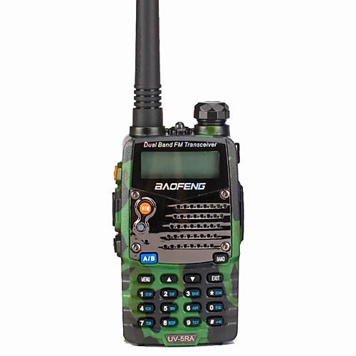 BAOFENG UV-5RA Для ношения в руке / Цифровой Голосовые подсказки / Двойной диапазон / Двойной дисплей 1,5 - 3 км 1,5 - 3 км 128 1800 mAh 5 W Walkie Talkie Двухстороннее радио / 136-174 мГц / FM-радио, Черный