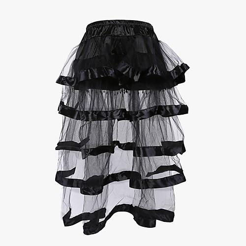 Жен. Тип застежки не указан Корсет под грудь / Классический корсет / Платье-корсет - Пэчворк Кружева Черный S M L / Большие размеры фото