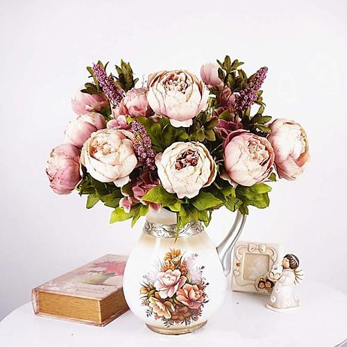 Искусственные Цветы 1 Филиал Европейский стиль Пионы Букеты на стол