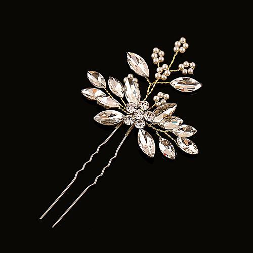 Латунь / Искусственный жемчуг / Стразы Заколка для волос с 1 Свадьба Заставка