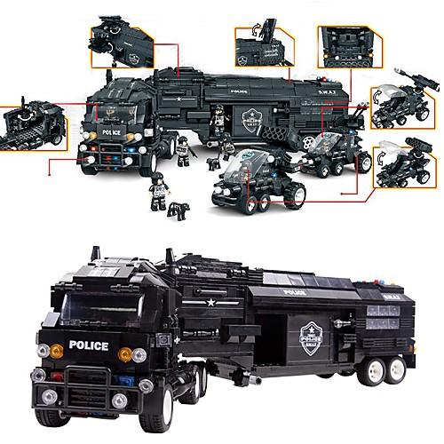 Конструкторы Полицейская машинка Игрушки Армия Своими руками Дети Мальчики 1492 Куски