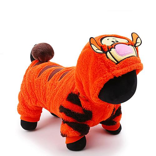 Кошка Собака Костюмы Комбинезоны Одежда для собак Очаровательный Косплей Праздник Мультфильмы Оранжевый Костюм Для домашних животных