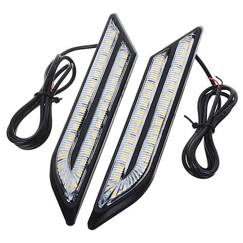 exled универсальный водонепроницаемый белый / синий / красный 66-светодиодные фары дневного противотуманные фары для автомобиля (пара) от Lightinthebox.com INT