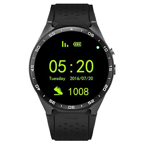 KING-WEAR YYKW88 Смарт Часы Android Bluetooth GPS Спорт Сенсорный экран Израсходовано калорий / Длительное время ожидания / Хендс-фри звонки / Таймер / Датчик для отслеживания активности, Красный