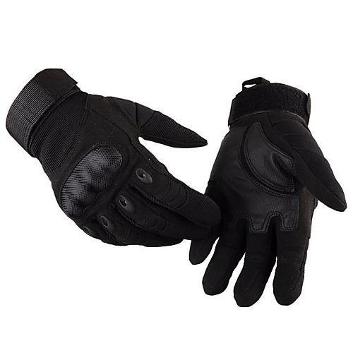 Полный палец Нейлон Ткань Мотоциклы Перчатки, Коричневый