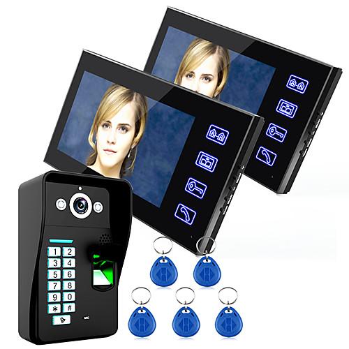 Эннио коснуться клавиш 7 ЖК-системы отпечатков пальцев видео домофон внутренней связи WTH контроля доступа по отпечаткам пальцев 1 камеры от Lightinthebox.com INT