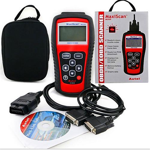 MS509 OBD2 сканер кода считыватель MaxiScan детектор транспортного средства диагностики неисправностей прибора от Lightinthebox.com INT