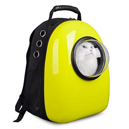 Кошка Собака Переезд и перевозные рюкзаки Астронавт Капсула Carrier Животные Корпусы Компактность Дышащий Милые Однотонный Розовый Зеленый Синий