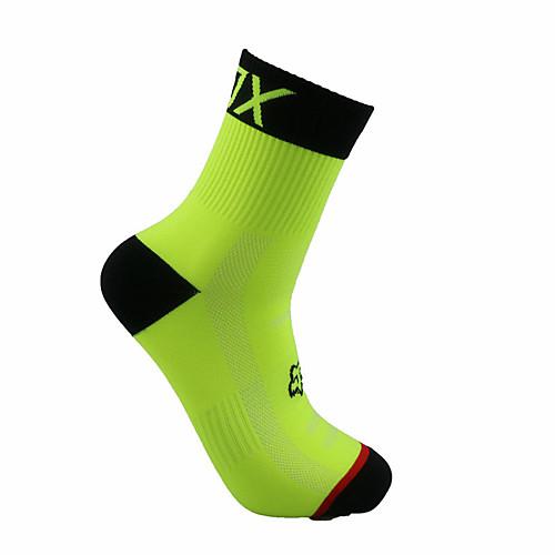 Компрессионные носки Спортивные носки / спортивные носки Толстые короткие носки Носки для велоспорта Муж. Футбол Велосипедный спорт / Велоспорт Велоспорт Дышащий Пригодно для носки 1 пара Зима, Черный