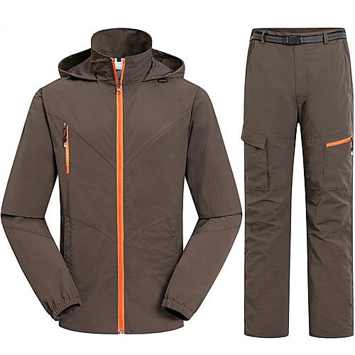 Муж. Куртка и брюки для пешеходного туризма Быстровысыхающий Ультрафиолетовая устойчивость Дожденепроницаемый Защита от излучения Дышащий