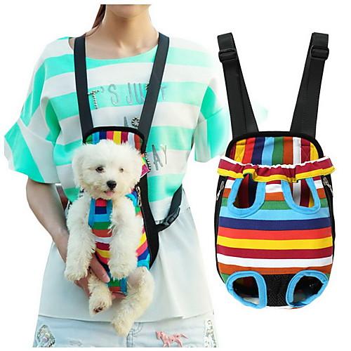Кошка Собака Переезд и перевозные рюкзаки передняя Рюкзак Животные Корзины В полоску Компактность Дышащий полоса Для домашних животных