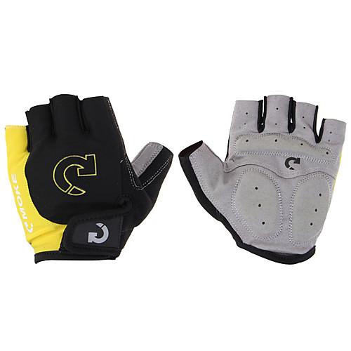 Перчатки для велосипедистов Перчатки для горного велосипеда Дышащий На подкладке Противозаносный Износостойкий Полупальцами Спортивные перчатки Лайкра Горные велосипеды Шоссейные велосипеды, Серый