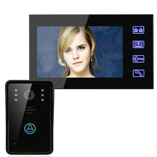 Эннио 7 видеосистема домофон домофон дверной звонок сенсорная кнопка дистанционного разблокировки ночного видения CCTV камеры безопасности от Lightinthebox.com INT