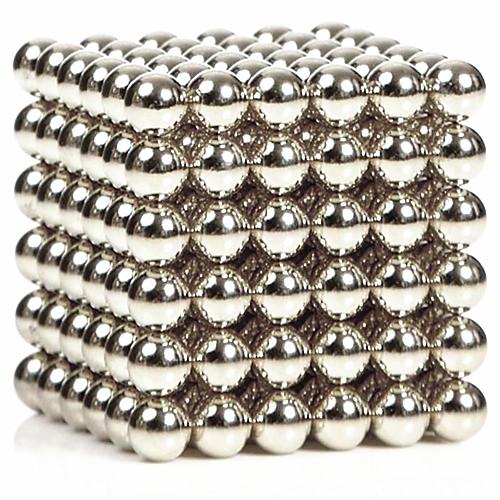 216pcs 3 мм серебро diy магнитные шары шар шарик волшебный куб магнит головоломка здание блок образование игрушка