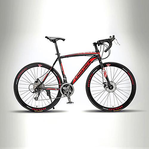 Дорожные велосипеды Велоспорт 21 Скорость 26 дюймы / 700CC TX30 BB8 Двойной дисковый тормоз Без амортизации Моноблок / Рама с жесткой задней подвеской Обычные / Алюминиевый сплав, Красный / черным
