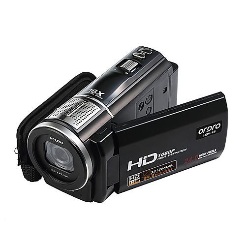 Цифровая видео камера ORDRO HDV-F5 1080P 3 сенсорный экран 16X зум, дистанционное управеление