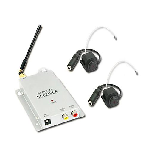 1.2GHz люкс безопасности видеонаблюдения беспроводной CMOS цветной видео-и AV-ресивер