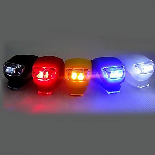 Передняя фара для велосипеда / Задняя подсветка на велосипед / Силиконовый байк Светодиодная лампа Велосипедные фары Велоспорт Клемма, Маленький размер, карман Батарейки таблеточного типа Батарея, Черный