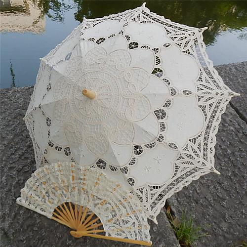 Пост ручки Кружево Свадьба Пляж Зонт Зонты 78 см