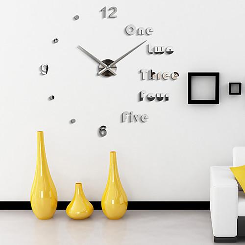 Модерн Офисный Семья Школа/выпускной Друзья Настенные часы,Новинки Акрил 110110 В помещении Часы, Черный