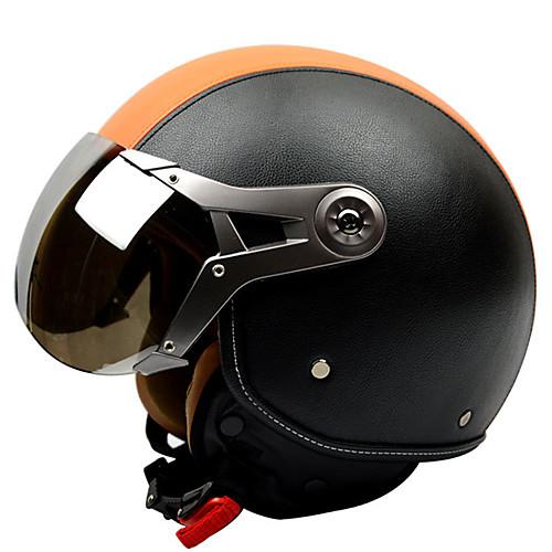 Каска Взрослые Универсальные Мотоциклистам Противотуманный / Дышащий, Оранжевый