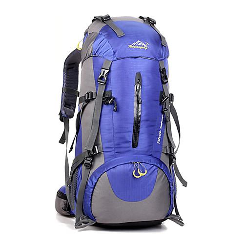 50 L Рюкзаки / Заплечный рюкзак - Водонепроницаемость, Дышащий, Ударопрочность На открытом воздухе Отдых и Туризм, Восхождение, Спорт в свободное время Нейлон Красный, Темно-синий, Тёмно-синий, Черный