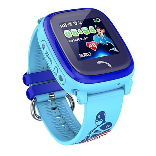 Детские часы iPS-A20 для iOS / Android Длительное время ожидания / Хендс-фри звонки / Сенсорный экран / Защита от влаги / Регистрация дистанции / Датчик для отслеживания активности / будильник, Синий