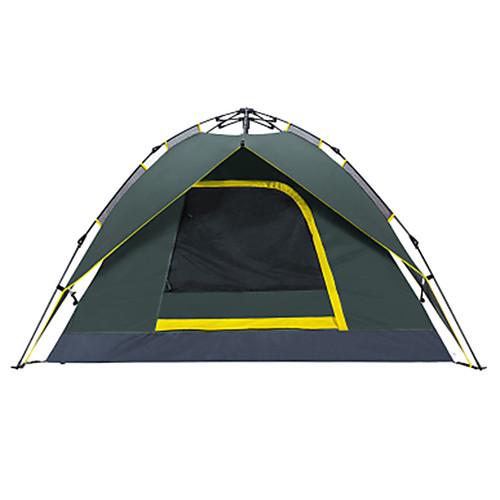 3-4 человека Автоматический тент / Туристические палатки Двухслойные зонты Карниза Сферическая Палатка На открытом воздухе Водонепроницаемость, Быстровысыхающий, Воздухопроницаемость для
