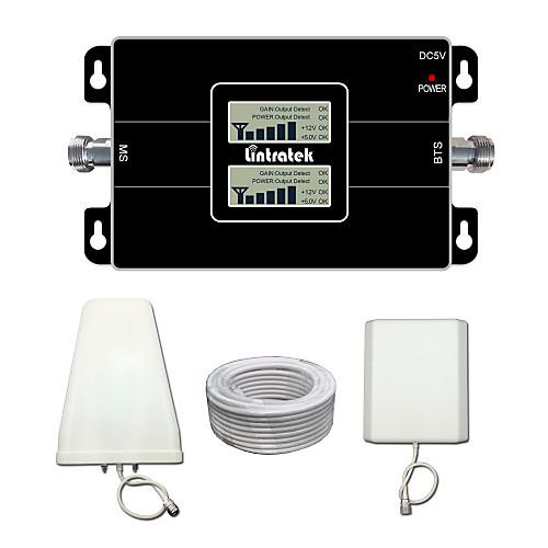 lintratek ЖК-дисплей 3g 900 2100 двухдиапазонный повторитель сотовых телефонов усилитель сигнала для МТС / Теле2 / мегафон / Водафон