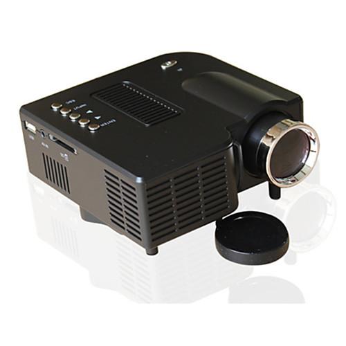 UNIC ЖК экран Светодиодная лампа Проектор 500 lm Поддержка 1080P (1920x1080) 10-100 дюймовый / 4:3 и 16:9 / QVGA (320x240) / ±15°, Белый